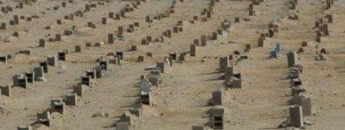 Makam untuk jemaah Haji yang baru