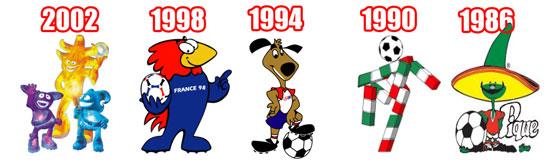 Piala Dunia 2002 1998 1994 1990 1986