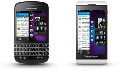 BlackBerry model Q10 dan Z10
