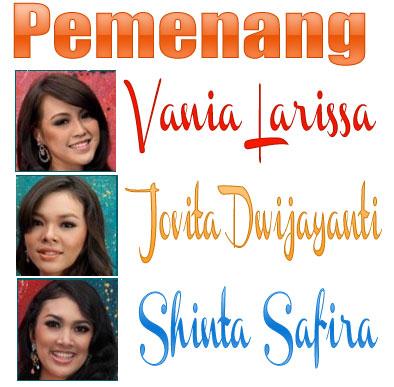 Pemenang dalam malam puncak Pemilihan Miss Indonesia 2013: