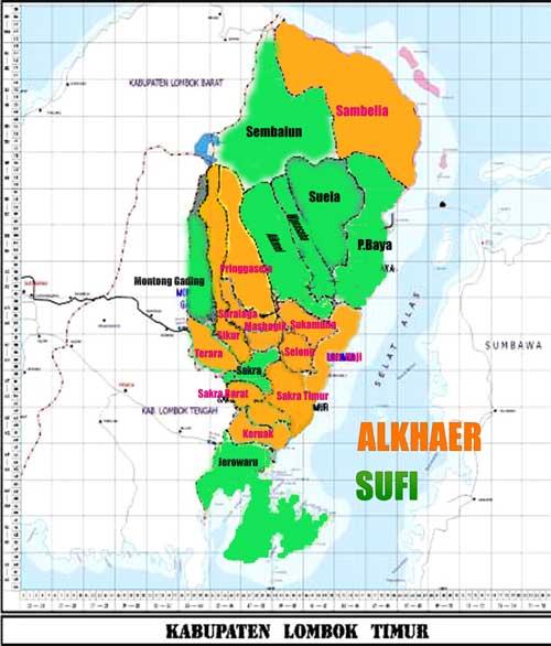 Peta Lombok Timur
