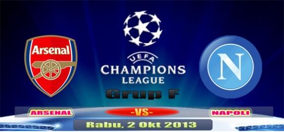 Prediksi Skor Arsenal vs Napoli, Rabu 2 Oktober UCL 2013 2014