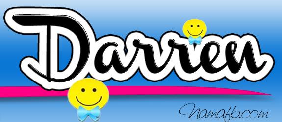 Alasan pilih nama Darren