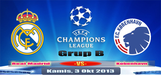 Preview Real Madrid vs Kopenhagen Kamis, 3 Okotber 2013