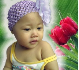 Image of a beautiul Indonesian baby girl