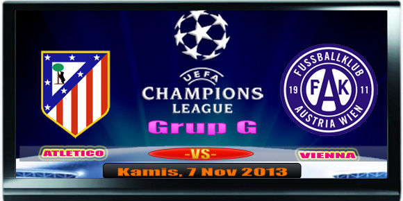 Atletico Madrid vs Austria Wien - Liga champion 2013