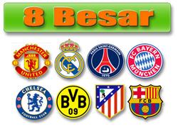 Lolos delapan besar Liga Champion