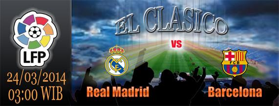 El Clasico Real Madrid vs Barcelona bulan Maret 2013