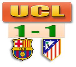 Hasil Barcelona v Atletico