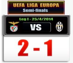 Benfica 2 Juve 1