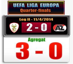 Skor hasil Benfica vs AZ