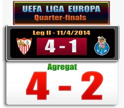 Skor Sevilla vs Porto