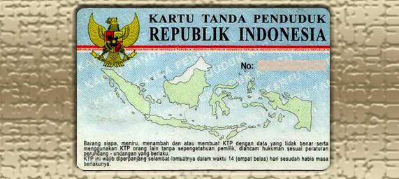 Kartu tanda penduduk (KTP) Indonesia dengan nama sangat panjang