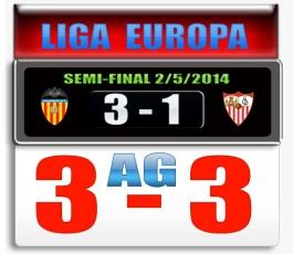 Skor Sevilla-Valencia