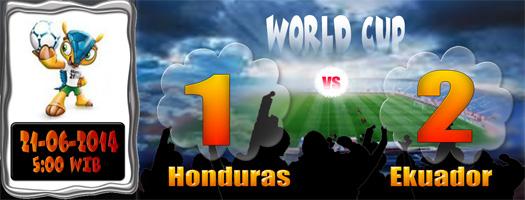 Skor Honduras Ekuador 21 Juni