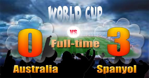 Tiga Gol indah Spanyol di Piala Dunia 2014
