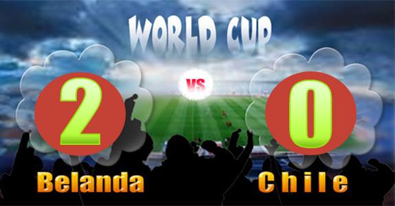 Skor Piala Dunia Belanda 2 Chile 0