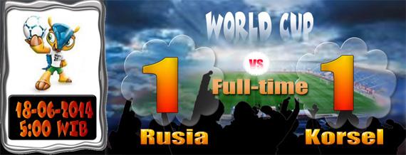 Hasil Piala Dunia 18 Juni Rusia 1-1 Korsel