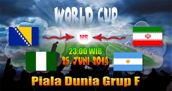 Live streaming dan preview grup F Piala Dunia 25 Juni 2014