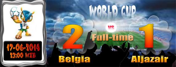 Hasil Piala Dunia 17 Juni 2014: Belgia 2 Aljazair 1