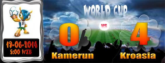 Skor Piala Dunia Kamerun v Kroasia