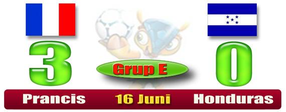 SKOR Piala Dunia Brazil - Prancis 3 Honduras 0