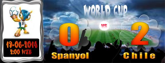 Hasil Piala Dunia 19 Juni Dinihari: Spanyol 0 Chile 2