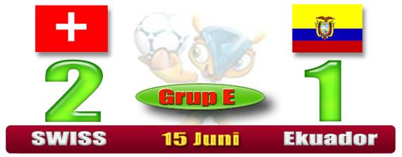 SKOR Piala Dunia Brazil - Swiss 2 Bosnia 1