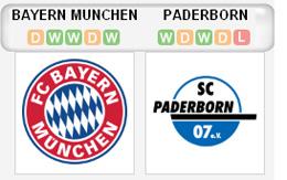 Bayern v Padeborn