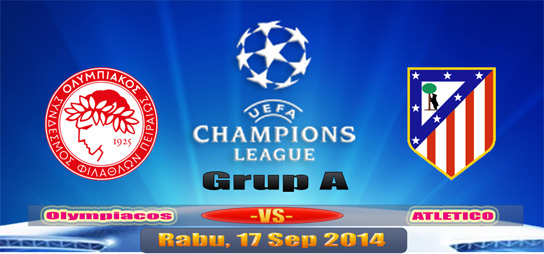 Olympiakos v Atletico Madrid UCL 17 September 2014