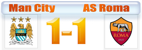 Hasil Liga Champion Manchester City vs AS Roma