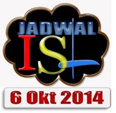 Jadwal ISL 6 Oktober