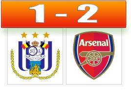 Skor Anderlecht vs Arsenal