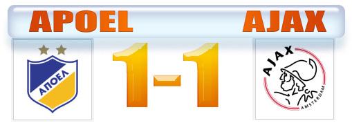 Skor Grup F Liga Champion Apoel vs Ajax