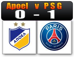 Skor Apoel vs PSG