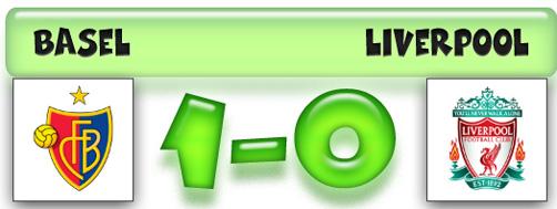 Skor hasil Liga Champions Basel 1-0 Liverpool