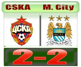 Skor CSKA 2-2 City