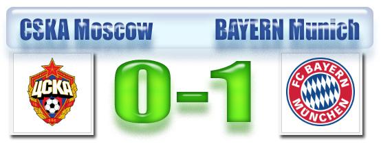 SKOR CSKA Moscow versus Bayern Munich, Selasa 30 September 2014