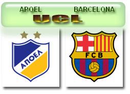Grup F UCL-APOEL vs BARCA