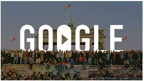 Foto Google Peringati Momen Jatuhnya Tembok Berlin Jerman