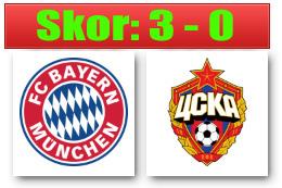 Skor Bayern CSKA